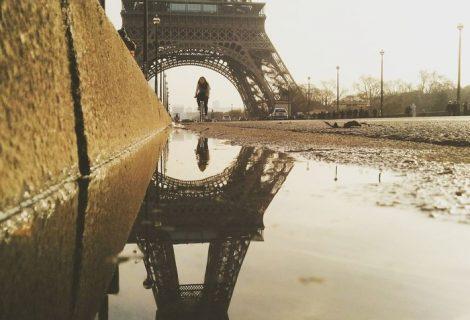 Ngắm kinh đô Paris từ vũng nước ngắm lên