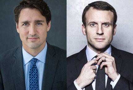 """""""Đọ hàng"""" hai nguyên thủ quốc gia đẹp trai của Pháp và Canada"""