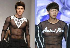 Ngắm loạt sao nam Hàn mặc đồ xuyên thấu khoe ngực