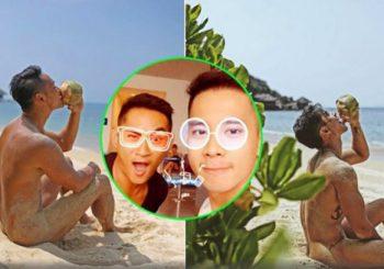 Chụp ảnh khỏa thân cùng nhau, Hồ Vĩnh Khoa khoe bạn tình đồng giới?